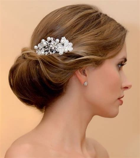 hair cuts where hair is tucked around the ear for pretty wedding hairstyles with accessories pretty designs