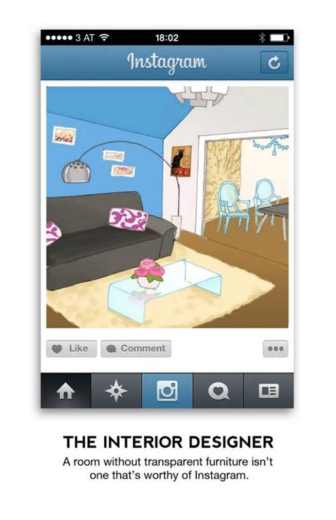 designtaxi instagram artist illustrates the 12 most common photos you will see