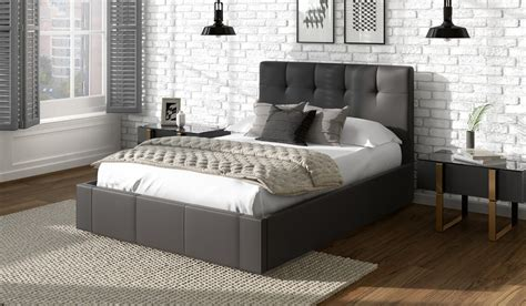 dorado faux leather bed frame bensons for beds