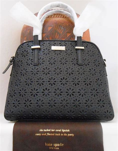 Kate Spade Maise Cedar Perforated Satch Bag nwt kate spade cedar perforated maise leather bag