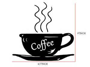 Design Own Wall Sticker coffee cup decal kitchen wall decal art vinyl decal sticker