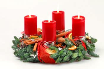 le 4 candele dell avvento 4 candele rosse per corona dell avvento 100x50