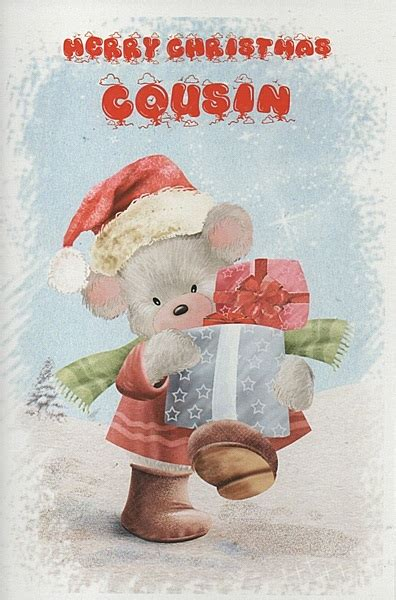 female relation christmas cards merry christmas cousin