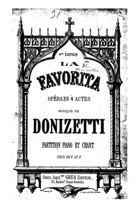 composizioni da donizetti la favorite donizetti gaetano imslp petrucci