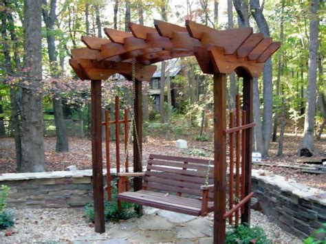 Trellis With Swing custom trellis swing jpg from crossfire service home improvement in nc 28226