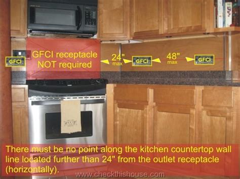 cabinet gfci outlets kitchen gfci receptacle and other electrical requirements