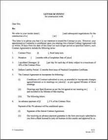 Letter Of Intent Exle Construction Letter Of Intent Template Real Estate Forms
