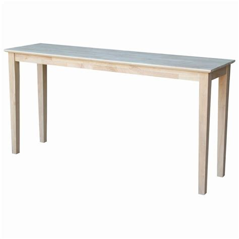 Unfinished Wood Console Table International Concepts Unfinished Console Table Ot 696789 The Home Depot