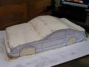 just outta the oven mustang bullit car cake tutorial