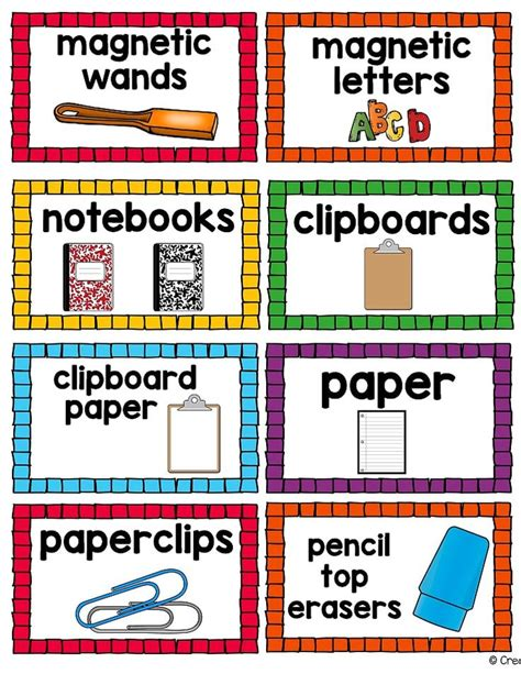 printable labels for classroom 17 best images about classroom labels on pinterest