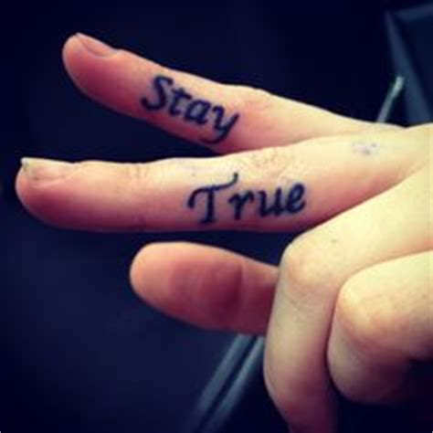 finger tattoo stay true serenity courage wisdom tattoo the fairest of them
