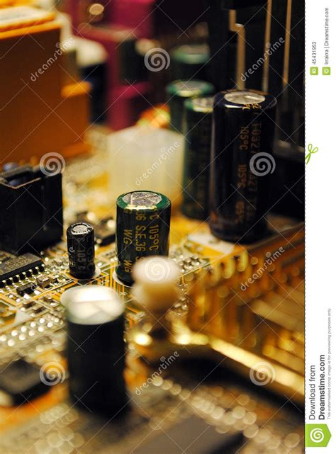 effect of bad capacitor on motherboard computer motherboard capacitors stock image 28 images computer comm motherboard circuits