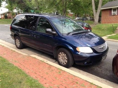 Chrysler Town And Country All Wheel Drive find used 2001 blue chrysler town and country minivan lx
