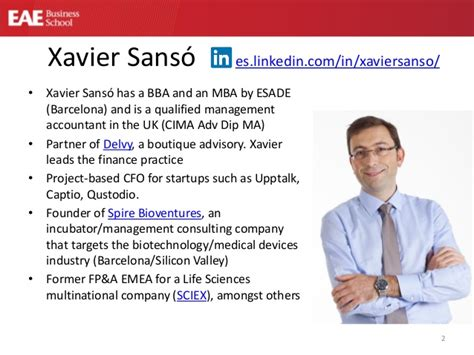 Xavier Mba Statistics by Financial Management At Startups