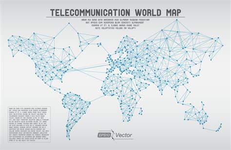 maps vector telecommunication world map vector free vector graphic