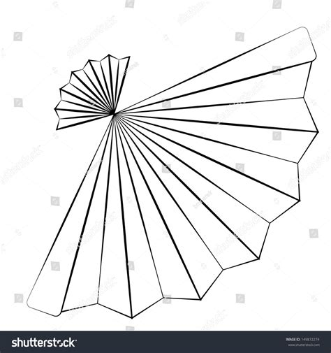 Fan Outline by Black Outline Vector Fan On White Stock Vector 149872274