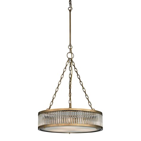 Drum Lighting Pendant Elk 46125 3 Linden Aged Brass Drum Pendant Lighting Elk 46125 3