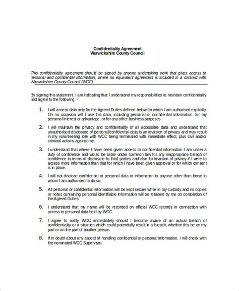 information security standards template 13 data confidentiality agreement templates free sle