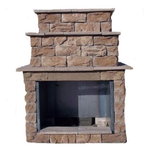 72 in fossill brown grand outdoor fireplace kit fbgfpl
