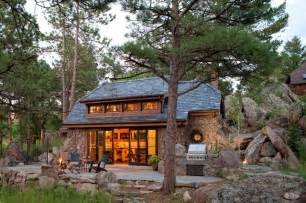 Frank Lloyd Wright Wall Sconces Stone Cottage Rustic Exterior Denver By Tkp Architects
