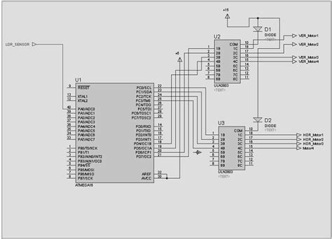 microcontroller based solar tracking system circuit