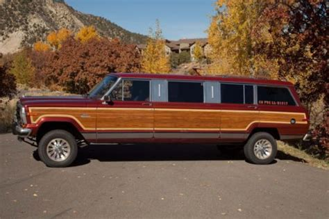 jeep grand limousine buy used 1986 jeep grand wagoneer stretch limousine in