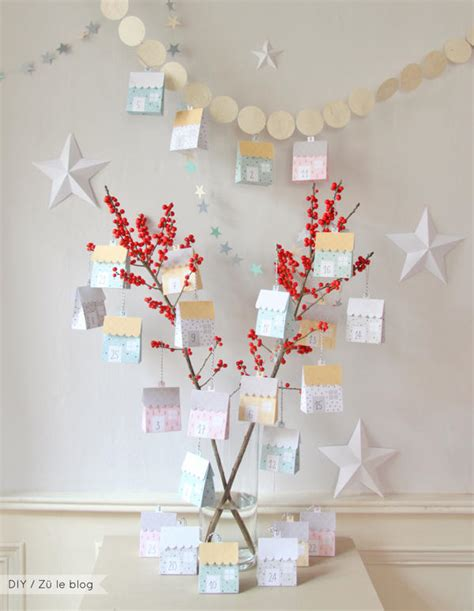 Papercraft Calendar - advent calendar free papercraft