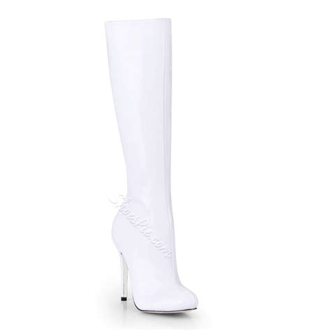 17 best ideas about white knee high boots on