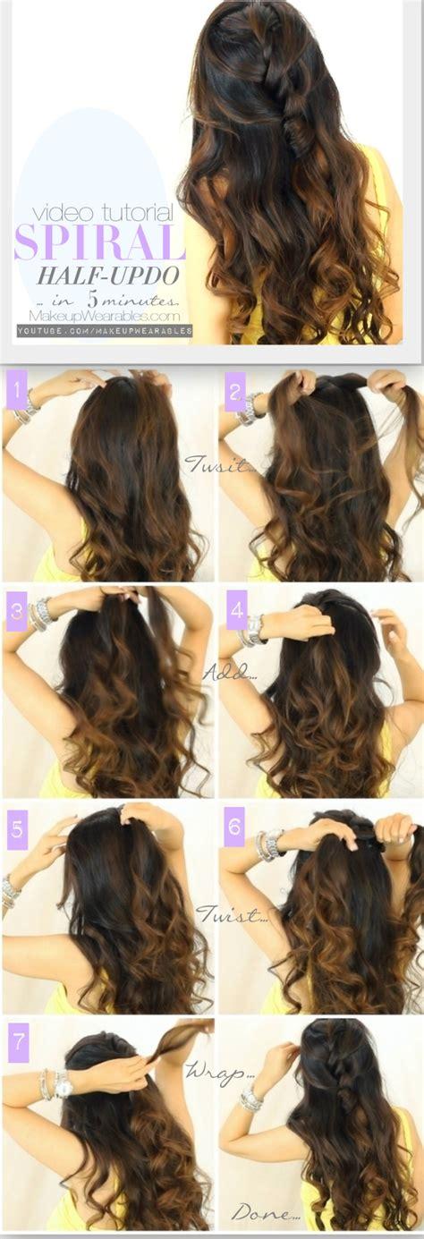 curly hairstyles half up half down tutorial 13 half up half down hair tutorials