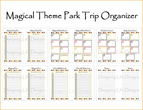 7 disney world itinerary template parts of resume