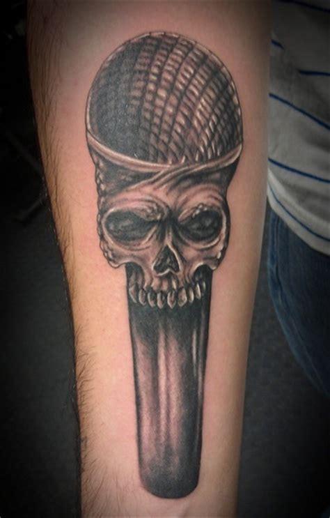 microphone tattoo on hand skull microphone tattoo on hand