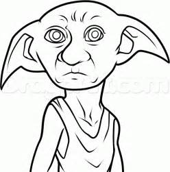 how to draw dobby from harry potter step by step