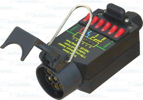 trailer light tester box 7 pin trailer socket plug tester 12 volt 12v 24v 24 light