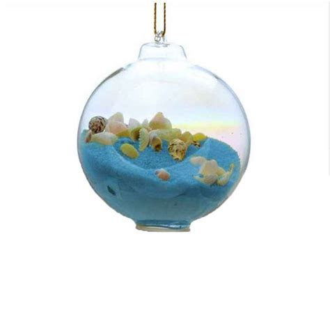 buy blue sand glass bubble christmas tree ornament boat