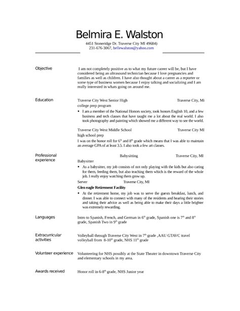 entry level freshers ultrasound technician resume exle template