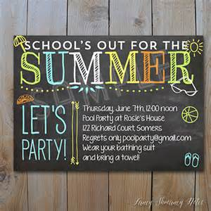 items similar to pool invitation end of year school s out for the summer