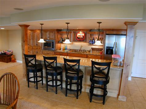 Small Bar Decorating Ideas Personable Home Basement Bar Designs Idea Feat Wooden