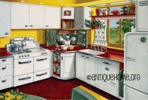 Mixing corner 1950s kitchen design in red and yellow by daily