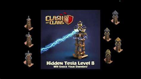 imagenes ocultas clash of clans tesla oculto nivel 8 espa 209 ol clash of clans youtube