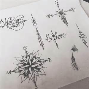 Drawing art dotwork girly compass arrow arrows feather mandala