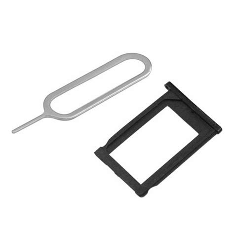 Black Sim Tray Metal sim card holder tray part black eject pin slot tool for iphone 3g 3gs ebay