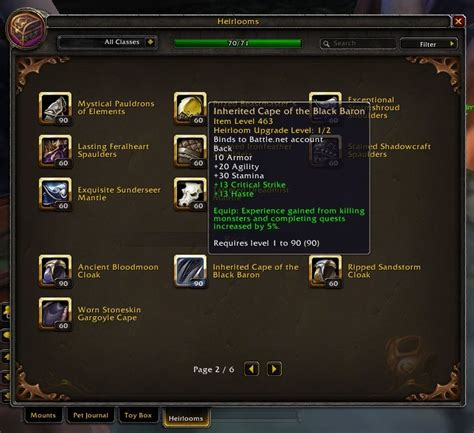 how to upgrade wc3 world of warcraft heirloom vendors