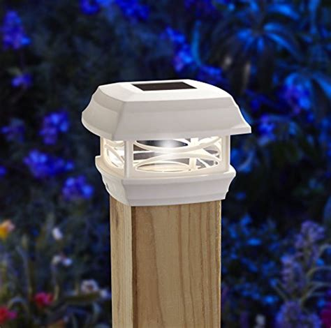 Moonrays 91254 Solar Powered Post Cap Led Light For Wooden Wooden Solar Lights