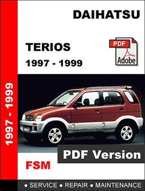 service manual car owners manuals for sale 1997 chevrolet g series 1500 navigation system daihatsu terios 1997 1999 factory oem service repair workshop shop fsm manual for sale