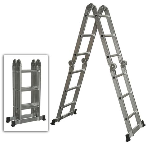 fold up step ladder multi purpose aluminum ladder folding step ladder