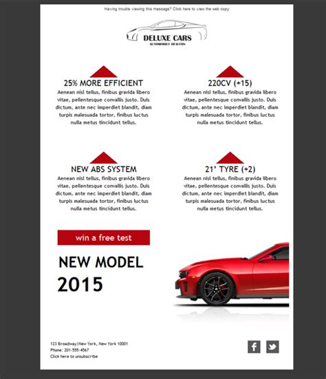 Plantilla De Newsletter Responsive Gratis Quot Car Dealer Delux Quot Para Email Marketing Mailify Car Dealer Email Templates