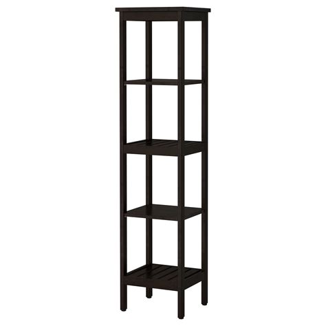 black bathroom shelf hemnes shelving unit black brown stain 42x172 cm ikea