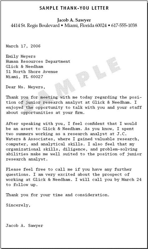 Employment Gratitude Letter Sle Thank You Letter Career Letters And Articles