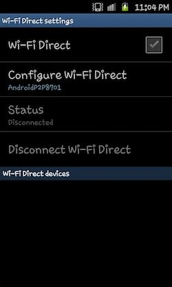 android wifi direct what is wi fi direct how to use it in samsung galaxy s ii