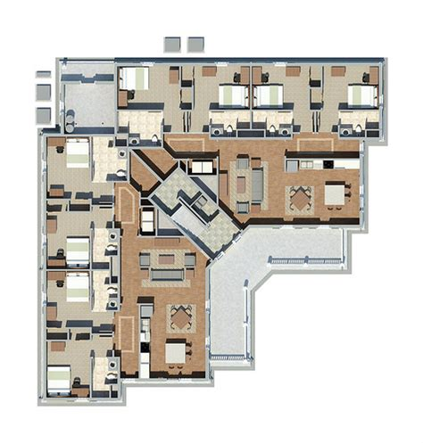 elon floor plans unit d floor plan 24x25 elon university flickr